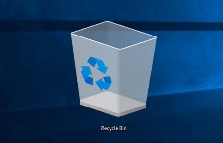 حذف کردن آیکون Recycle Bin در ویندوز 10